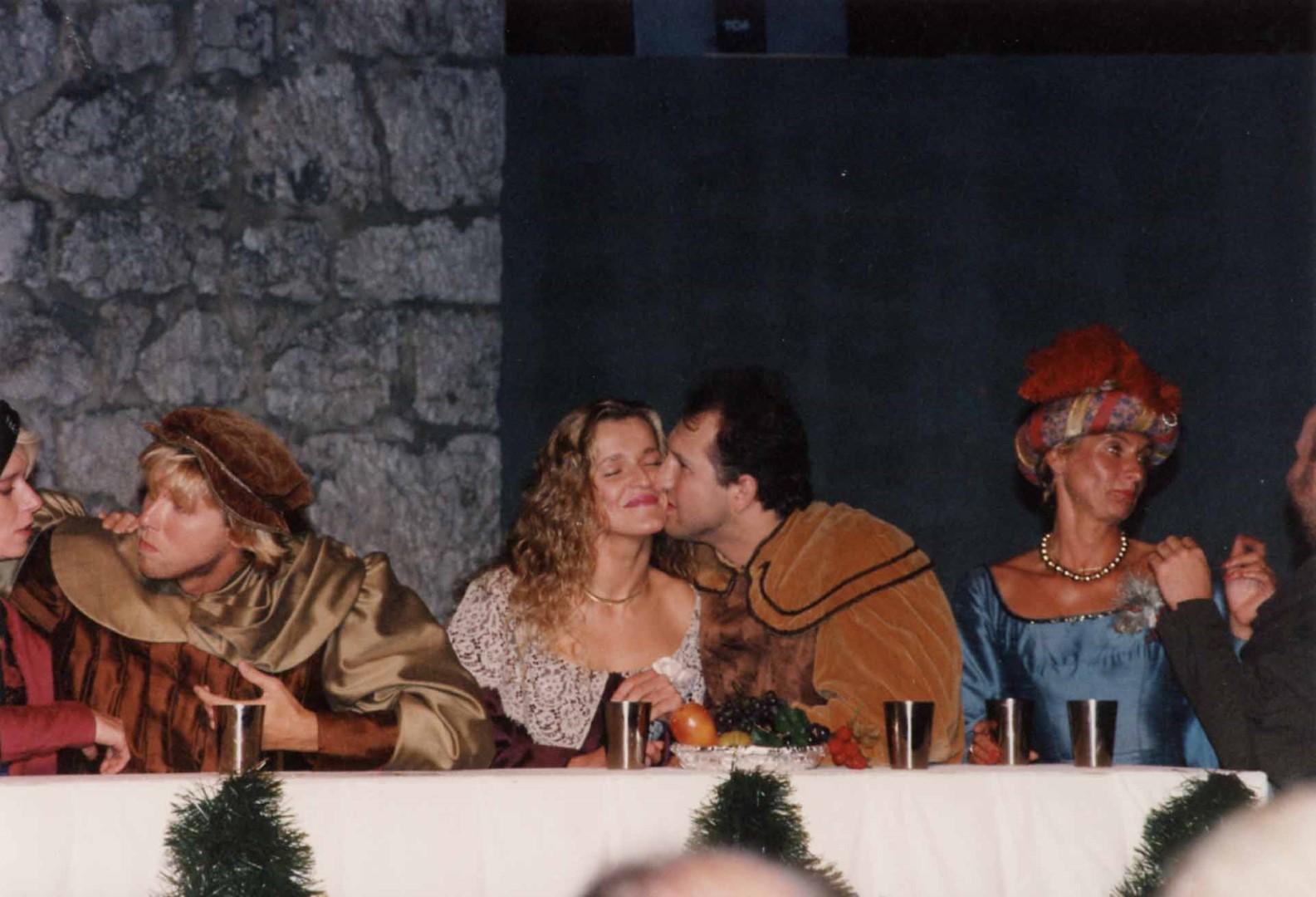 """1992: Tischgesellschaft in """"Jedermann"""""""