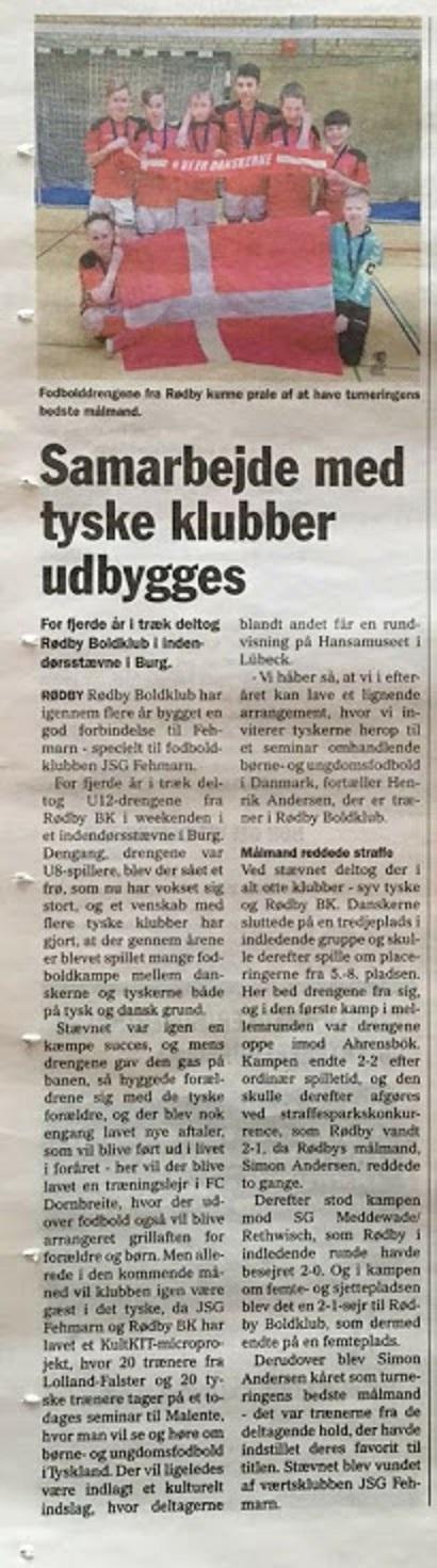 Auch bei unseren dänischen Nachbaren wurde über das Turnier berichtet !