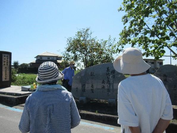 旧目達原飛行場正門跡 若者57名が特攻隊員として大空に出撃し、散っていった