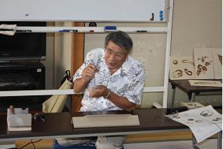 はんだこて焼き絵教室 講師  大塚 誠一氏