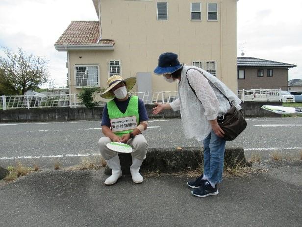 第2回横田地区での訓練の様子(令和3年9月28日)