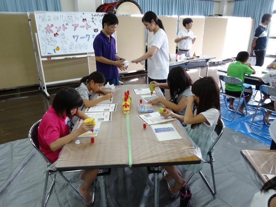 学童ボンドアート教室