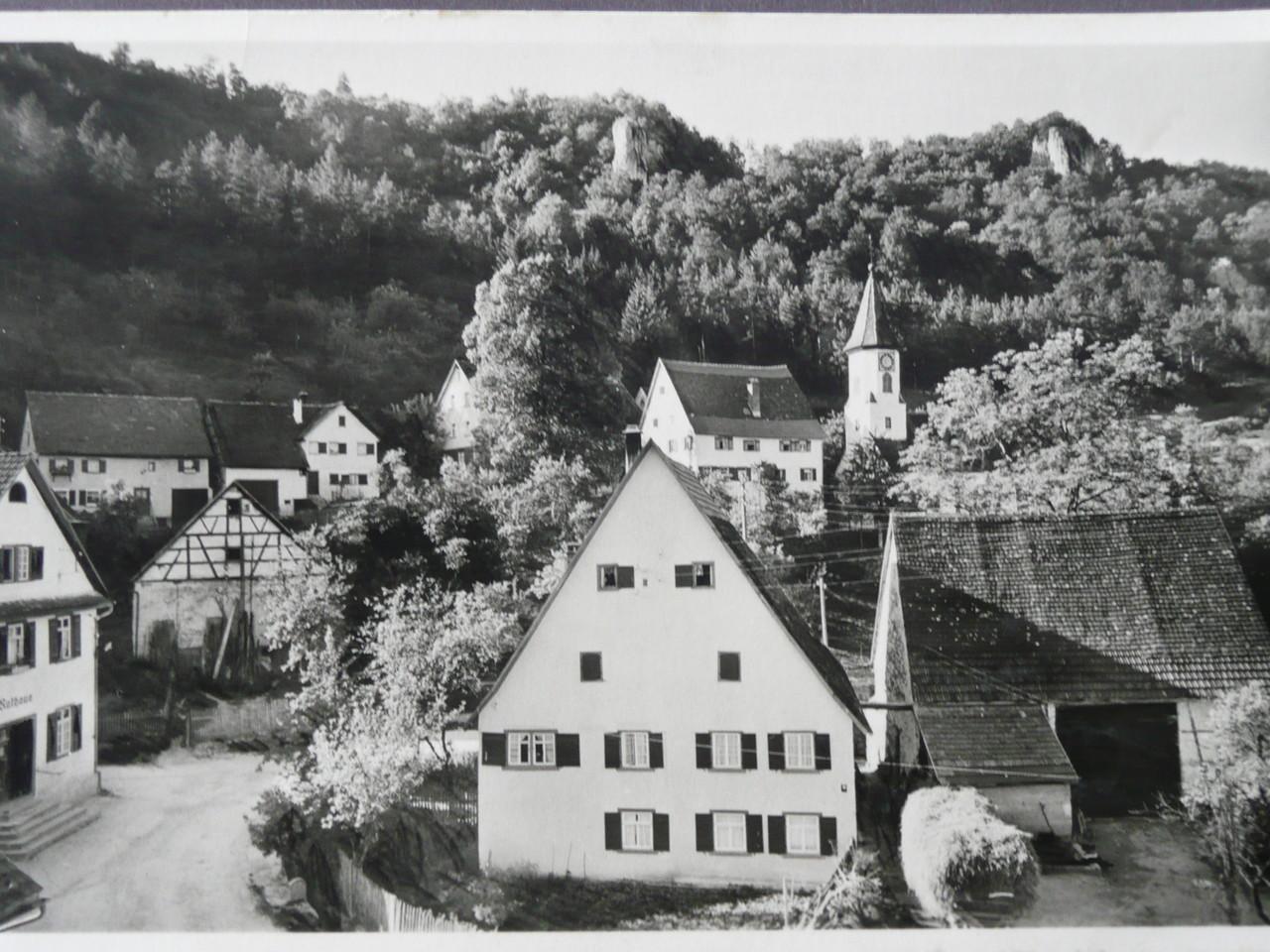 vom Forellenfischer Richtung Günzelburg 1933    Ansichtskarte der Gebr. Metz,Tübingen