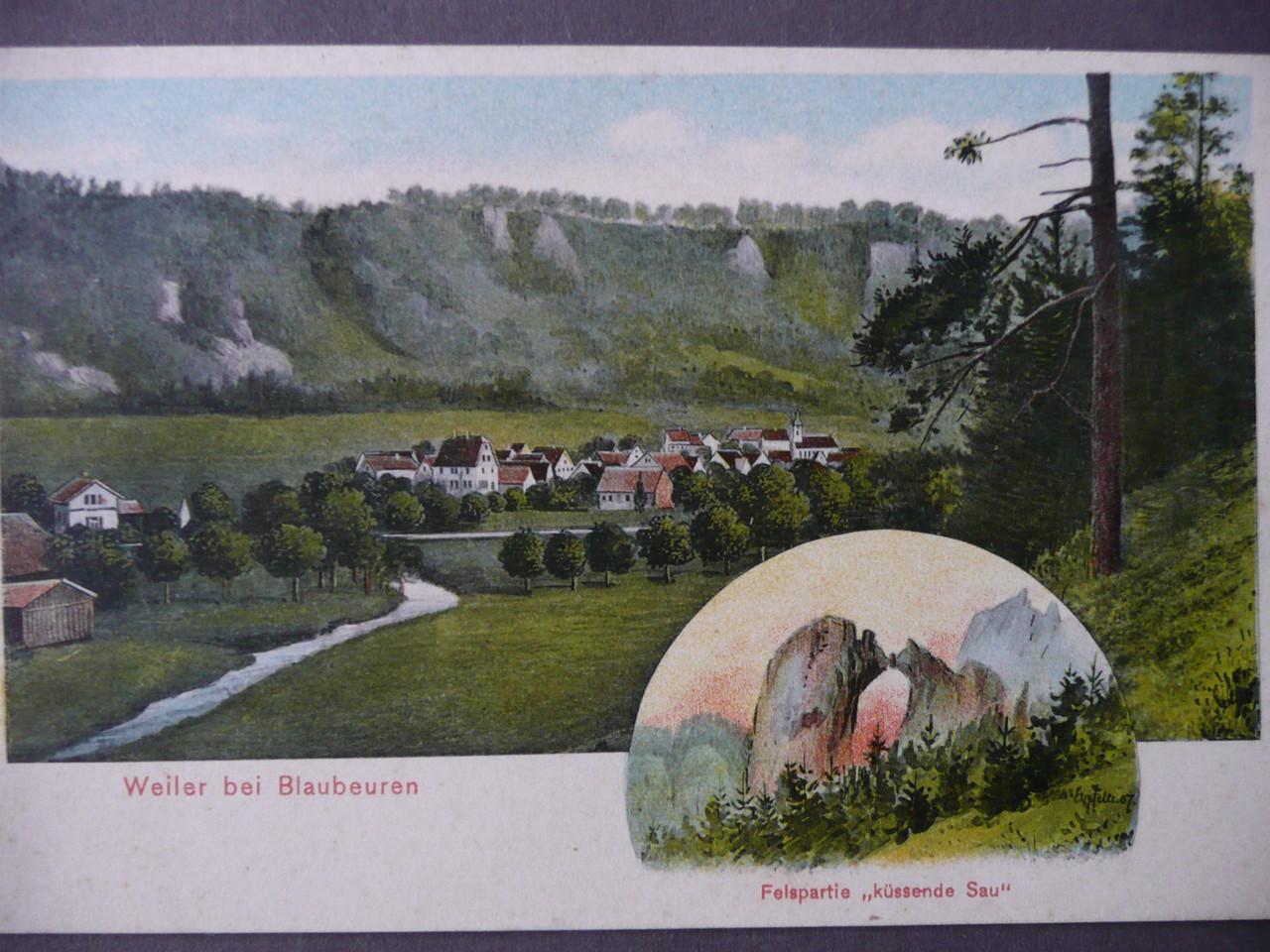Weiler, Ansichtskarte 1908   Litho. Eugen Felle