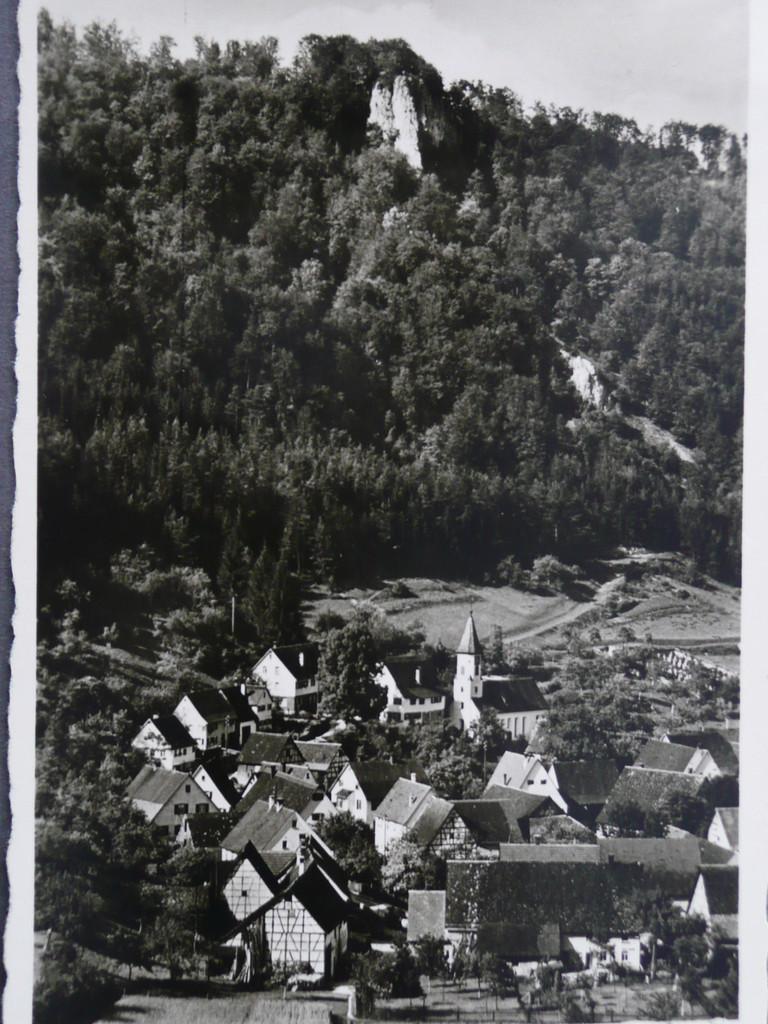 Weiler, Richtung Günzelburg 1944     Ansichtskarte der Gebr. Metz,Tübingen
