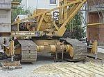 Liebherr Baustellenkran mit Raupenfahrwerk