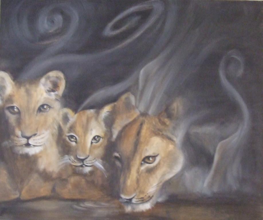 spiriti/spirits, 50x70 cm, olio su tela