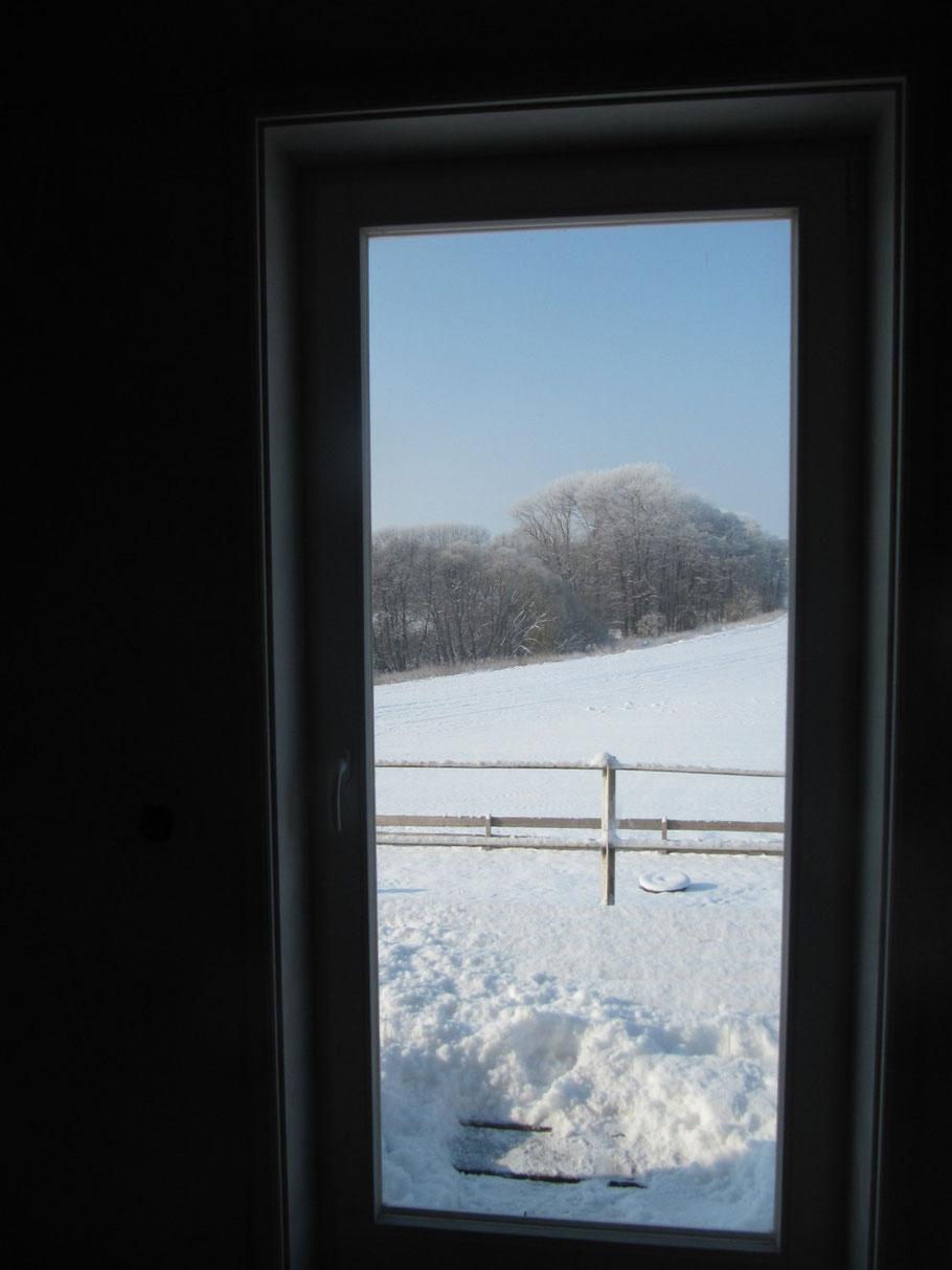 Blick auf den Schnee