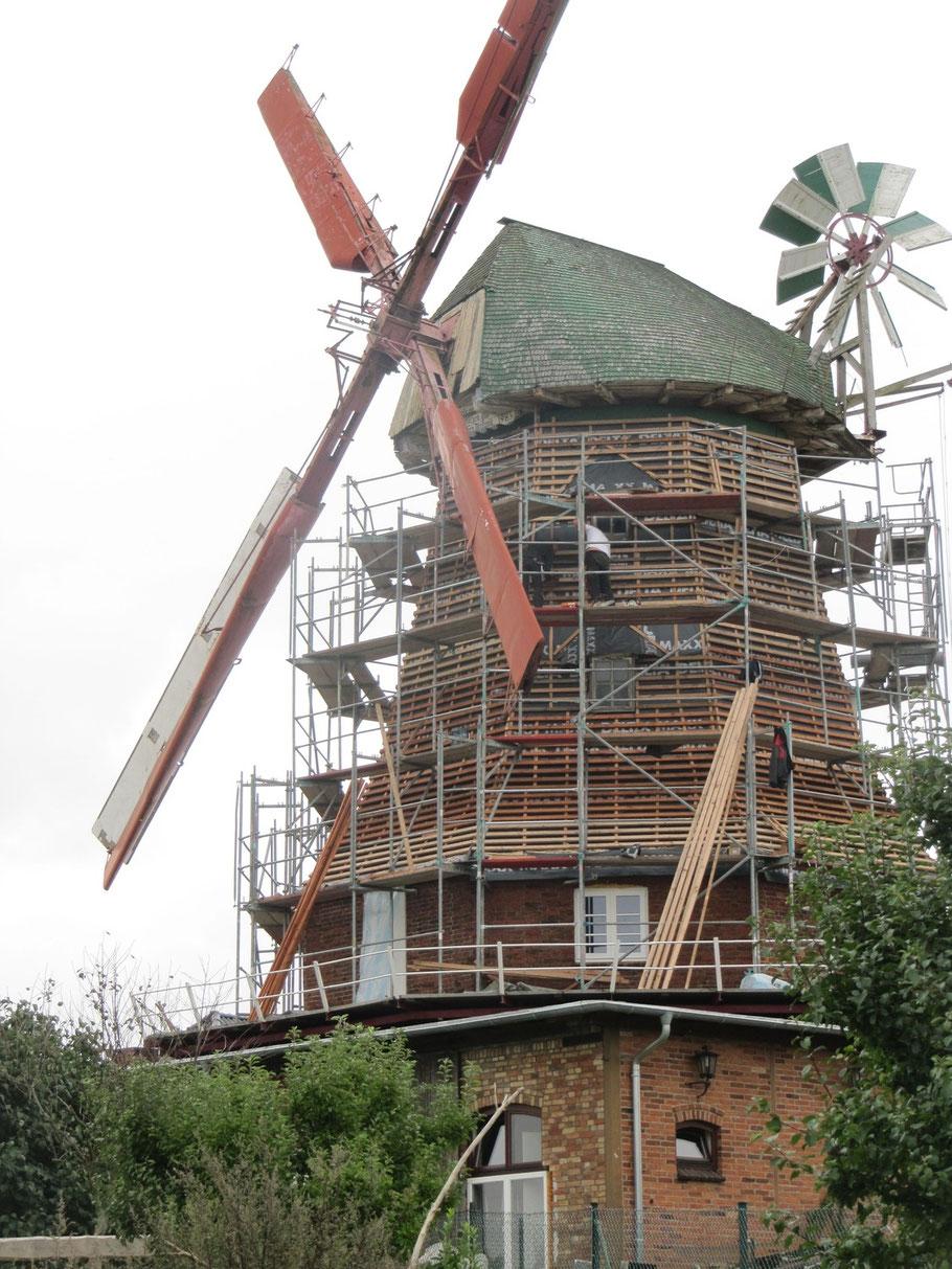Die Mühle wurde eingedeckt