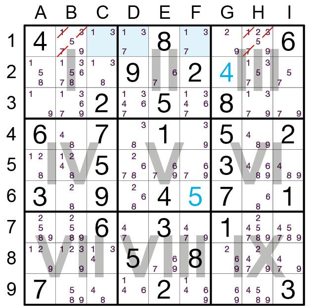 Sudoku Lösungsstrategie Nackter Dreier© Rätselbüro Martin Simon