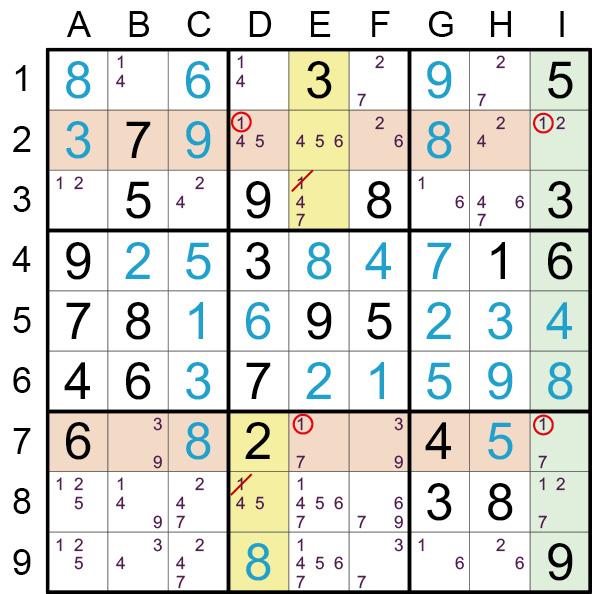 Sudoku Lösungsstrategie Wolkenkratzer© Rätselbüro Martin Simon