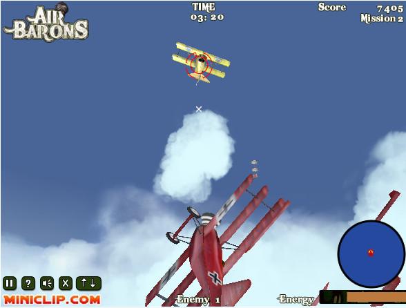 Sconfiggi le squadriglie di temibili Sopwith Camel a bordo del tuo Fokker Dr. I prima del loro l'obbiettivo