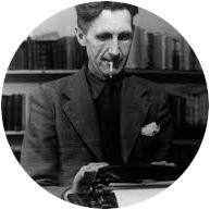 George Orwell al lavoro .