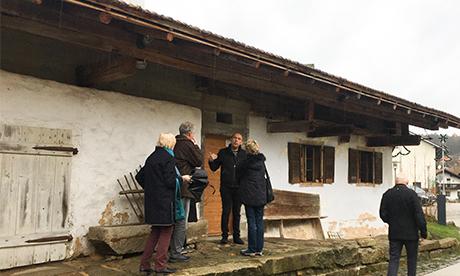 Führung und Besuch im Waidlerhaus mit Thomas Bauer u. Peter Haimerl