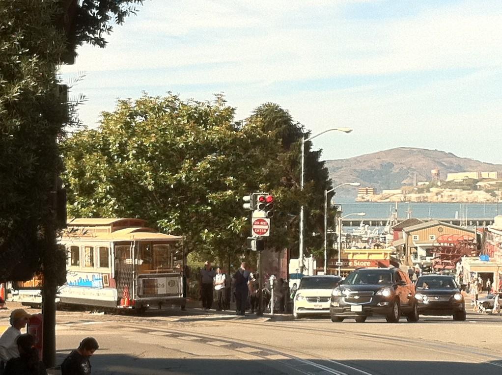 """Die beruehmten """"Cable Cars"""" in San Francisco"""