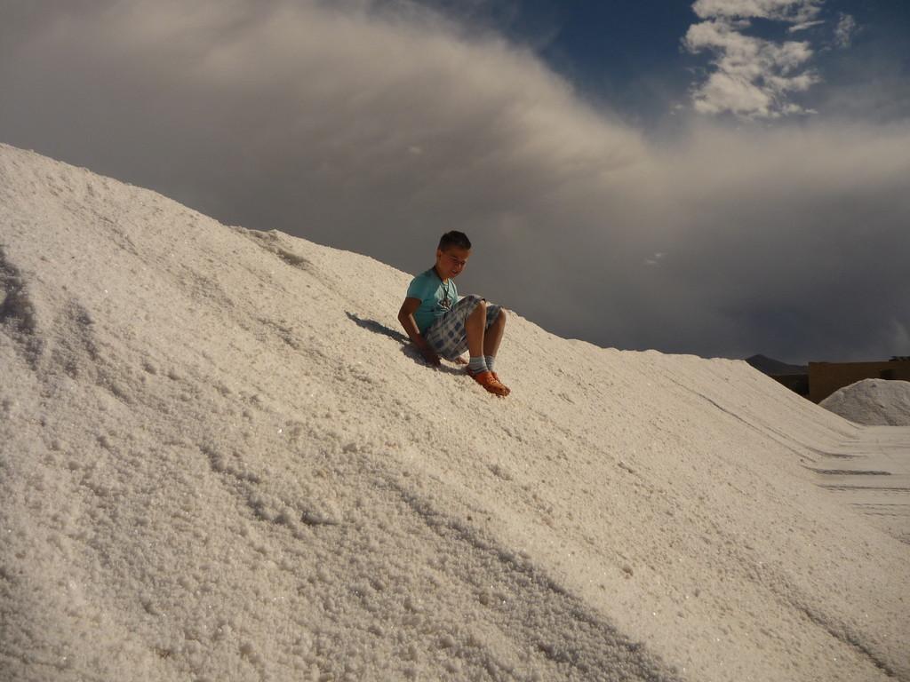 Schlitteln auf Salz