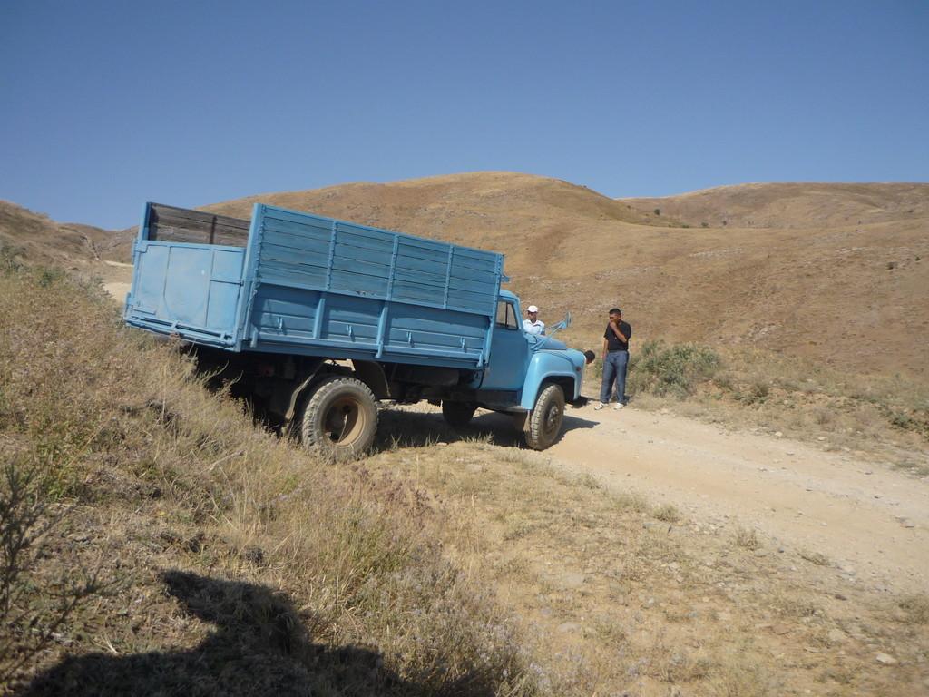 Unterwegs mit dem Jeep treffen wir auf diesen Kardonwellen-Bruch