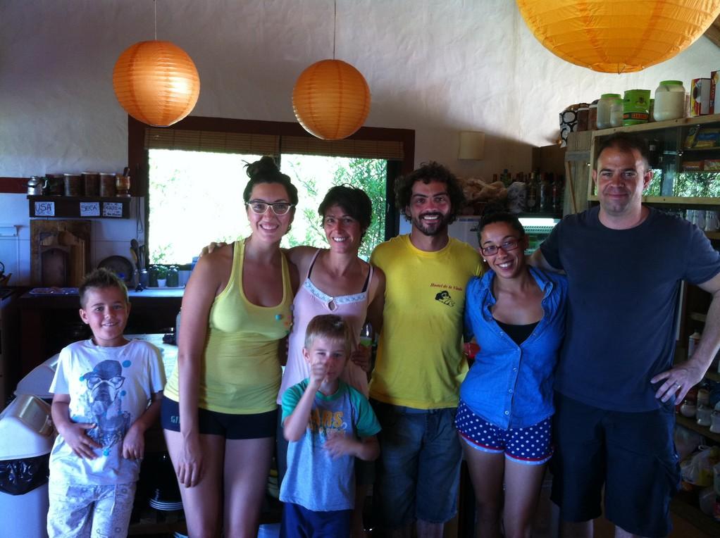 Unsere liebenswuerdigen Gastgeber: Flor, Sebastian und Guadalupe