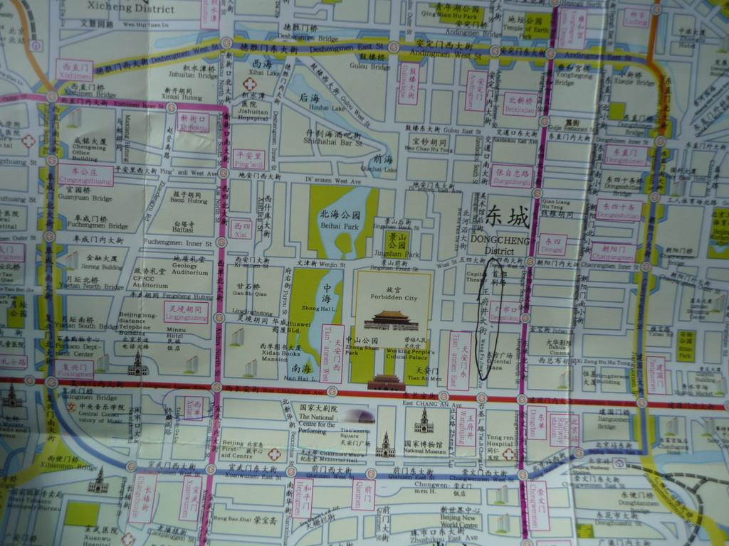 Das Zentrum Beijings ist die Verbotene Stadt