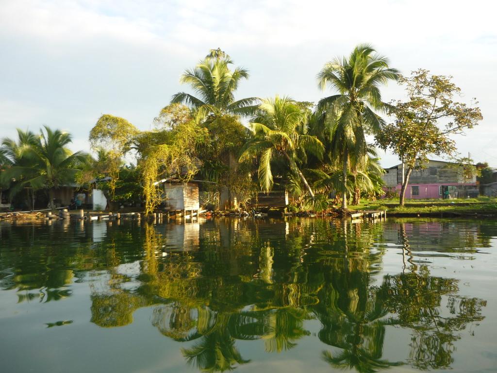 Ruhiges Wasser am Morgen frueh um die Insel Colon, Bocas City