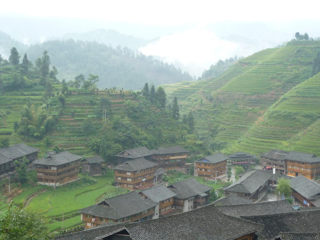 Das huebsche Dorf in den Reisterrassen