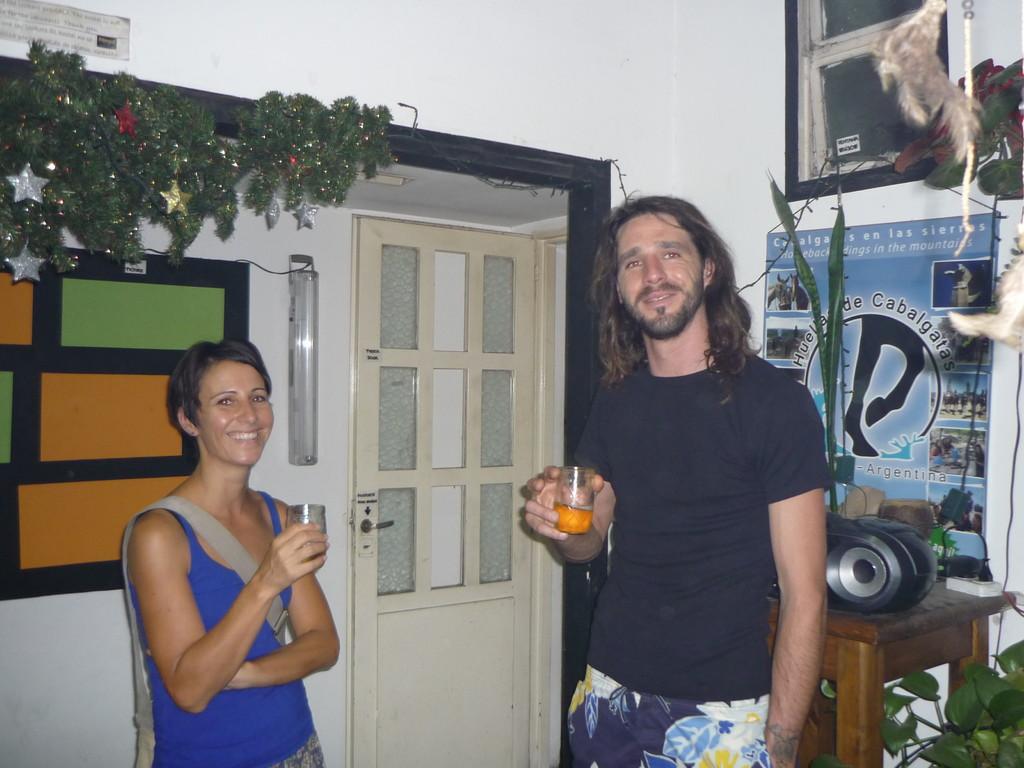 Erster Asado-Abend: Coco und Alessandro