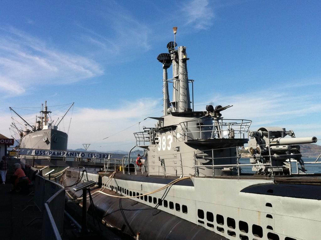 Das U-Boot heisst USS Pampanito...