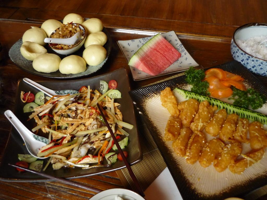 Megafeines Essen in einem vegetarischen Restaurant