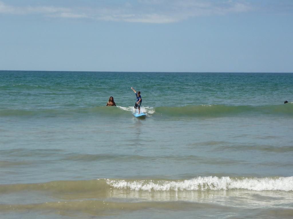 Joels Surflektion macht riesig Spass
