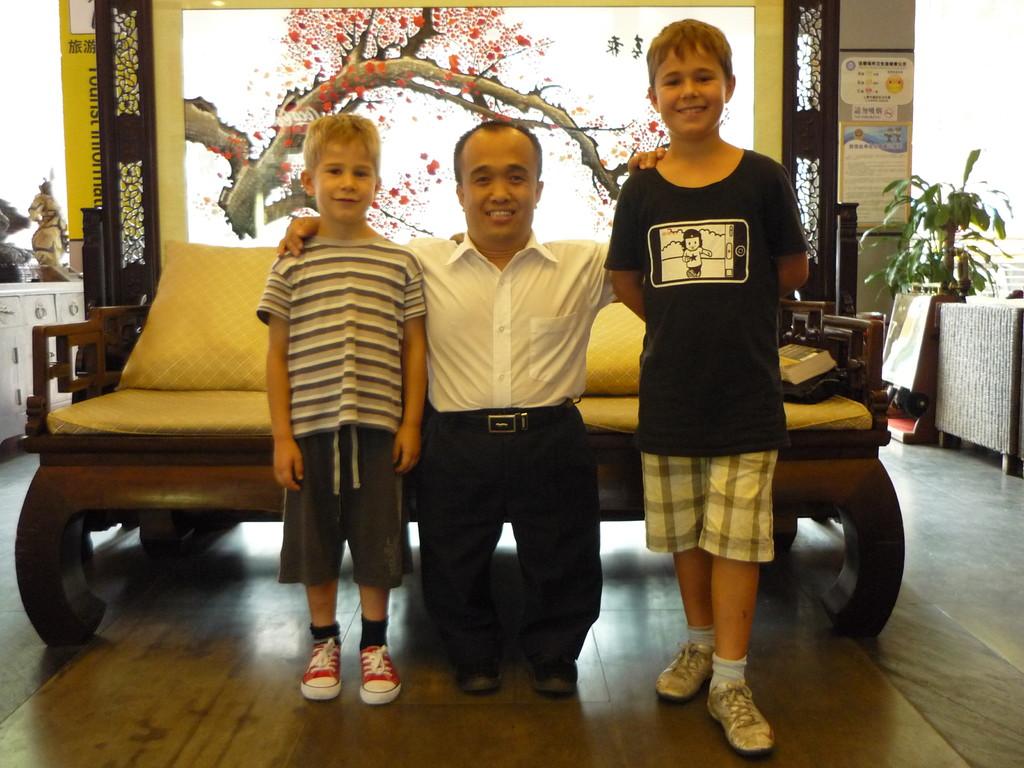Dave, der stv. Manager des Shanghai Central International Youth Hostels
