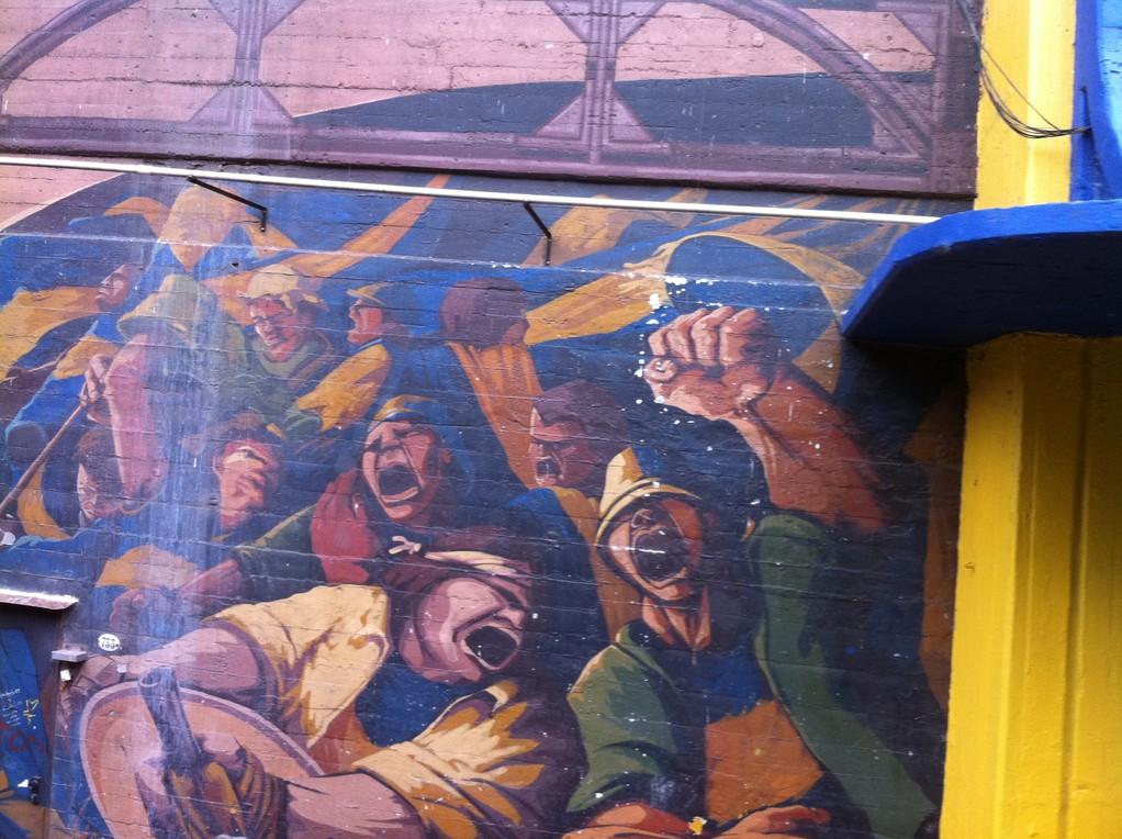 Wandgemaelde am Fussballstadion
