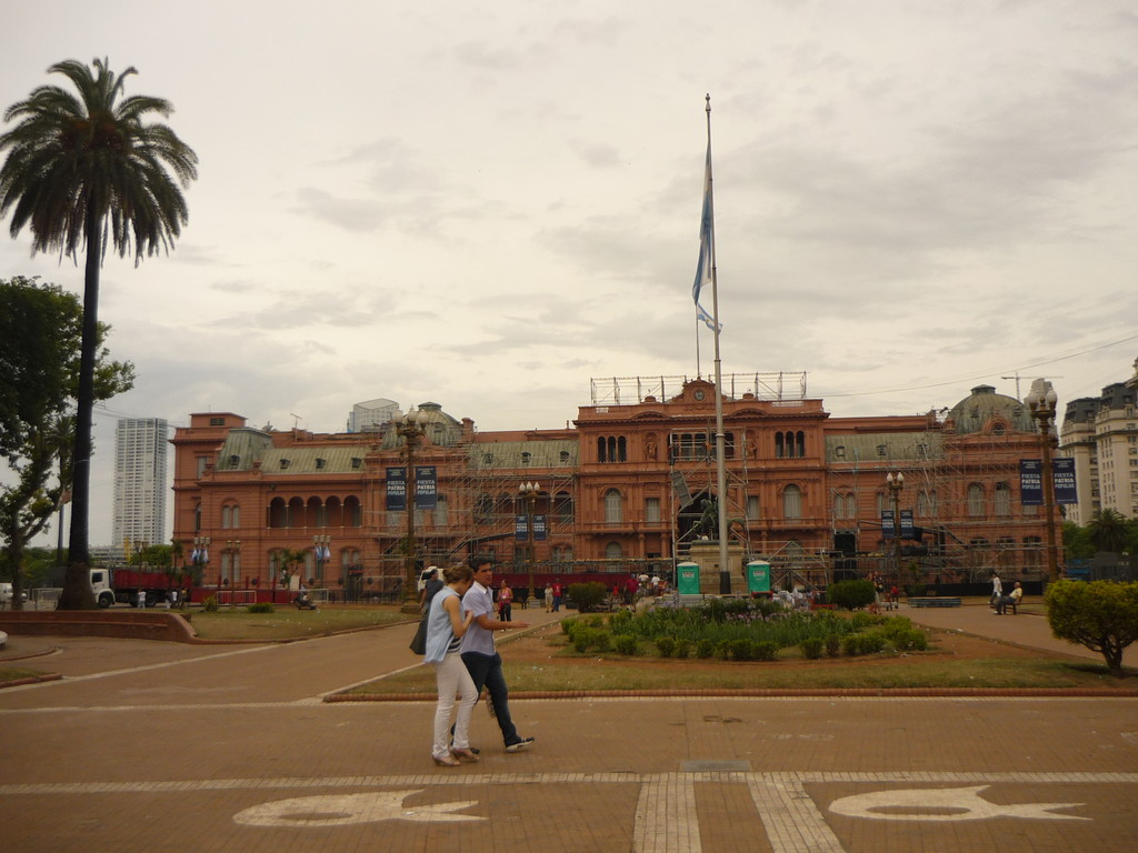 Die Casa Rosada, wo schon Evita Perron zum Volk sprach...
