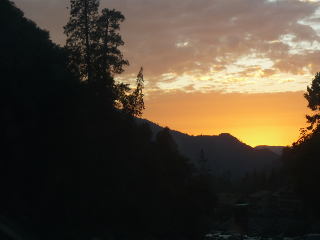 Der Yosemite Park bei Sonnenuntergang