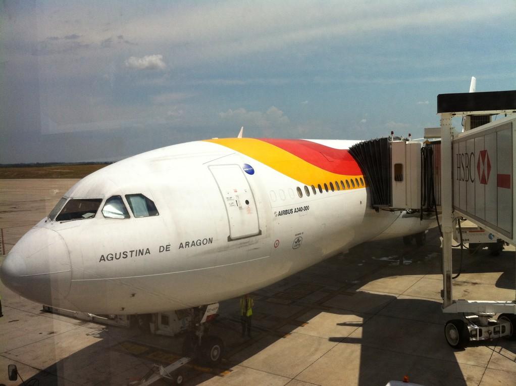 Die Iberia Maschine, die uns schlussendlich heimbringt