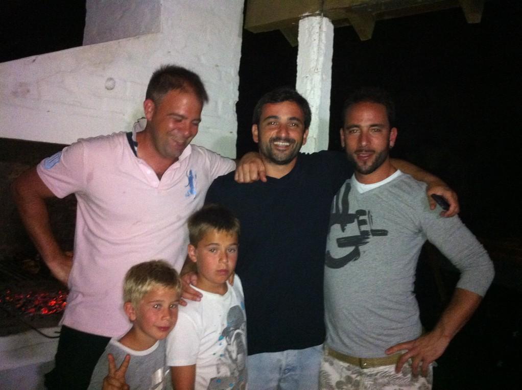 Jules und Mariano bei uns zum Asado