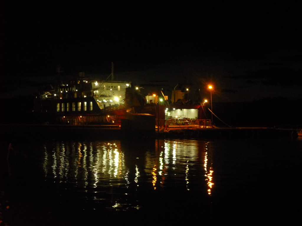 Als wir an Bord gehen ist es Mitternacht