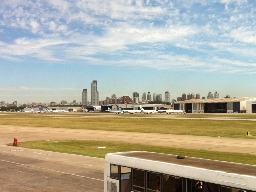 Ankunft am Flughafen in Buenos Aires