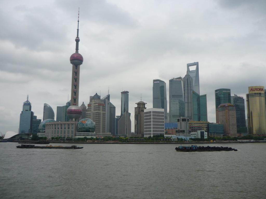 Umwerfende Skyline Shanghais