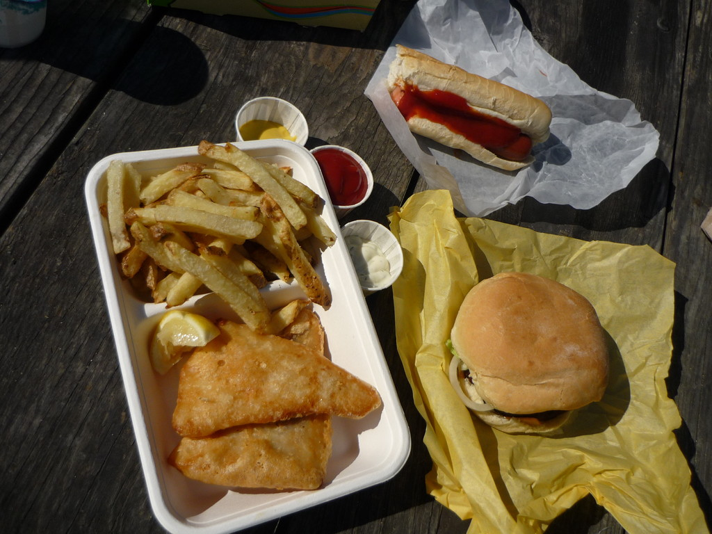 Canadian Food: Fish 'n Chips, Hot Dogs and Burgers