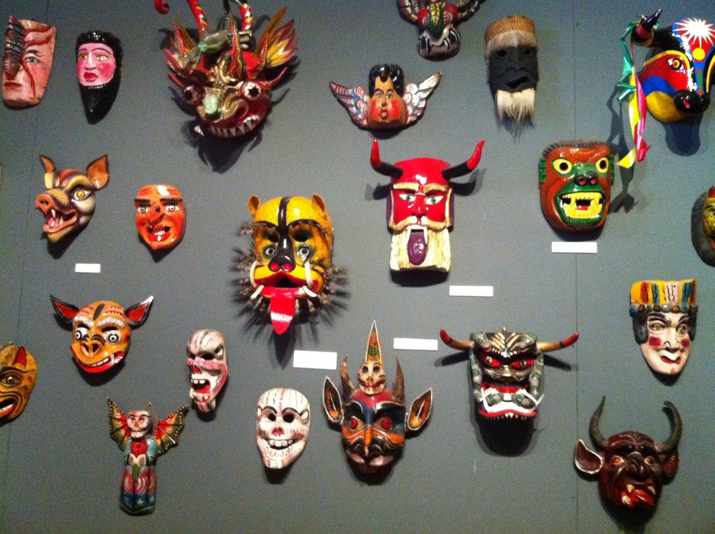Masken im Carneval Museum