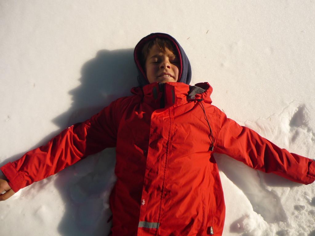 Dafuer gibts Schneeengel