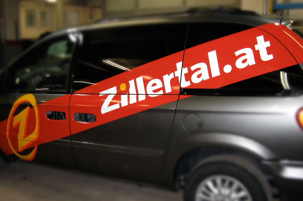 Fahrzeugbeschriftungen Zillertal Tourismus