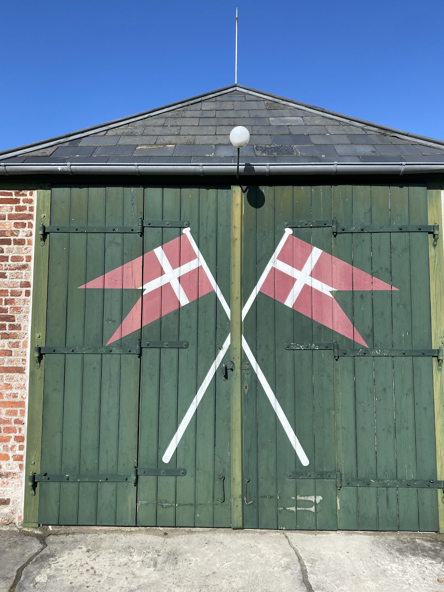 Die dänische Fahne in Sønderho