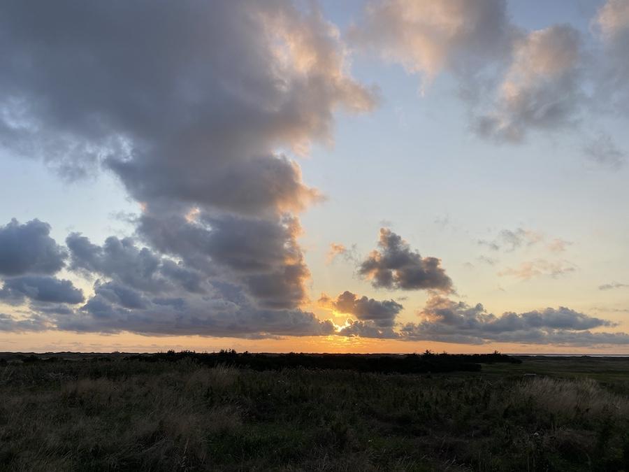 Sonnenuntergang in Nordby