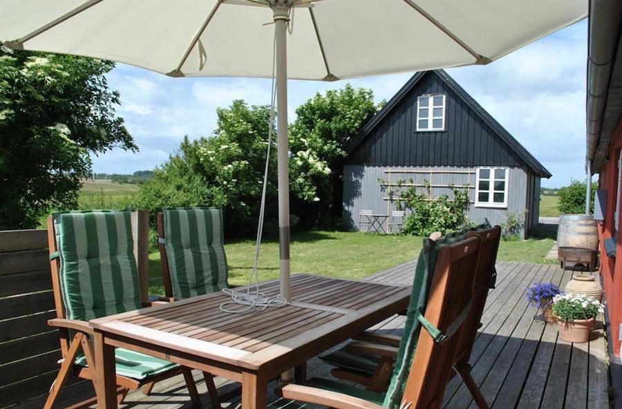 Hyggelig Terrasse für ein Glas Wein
