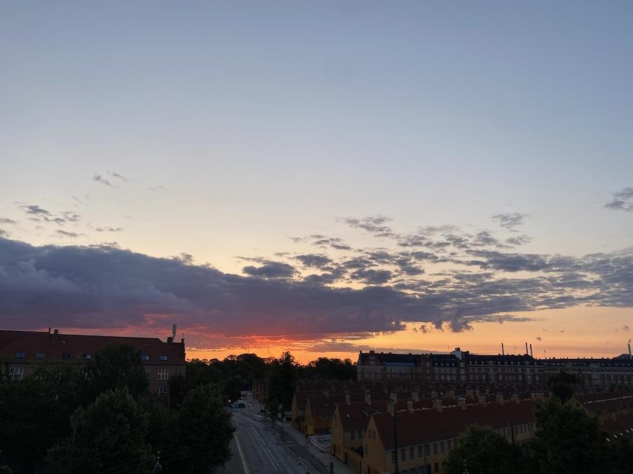 Sonnenaufgang aus meinem Fenster gesehen
