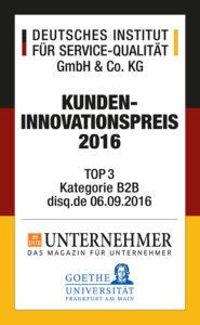 """Auszeichnung """"Deutscher Kunden-Innovationspreis"""""""