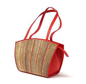 Fischleder Damenhandtasche Grado