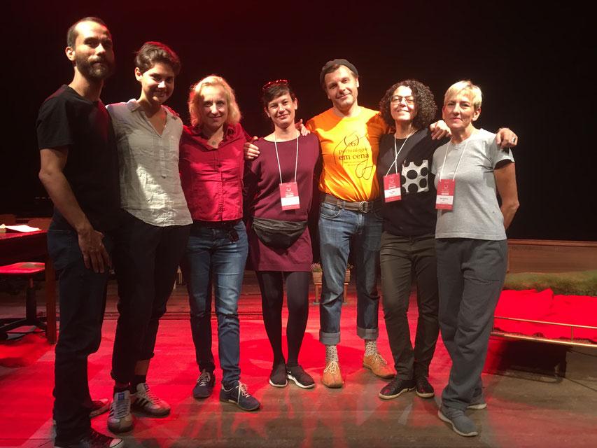 Top-Team. v.l.: Andre, Henrike, Anja, Grazi, Ernest, Dora, Raka