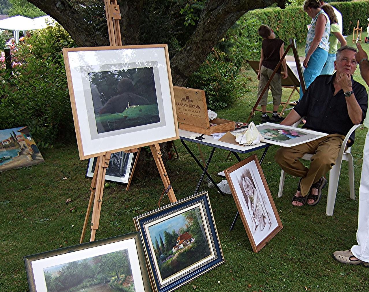 Ausstellung im Rosengarten